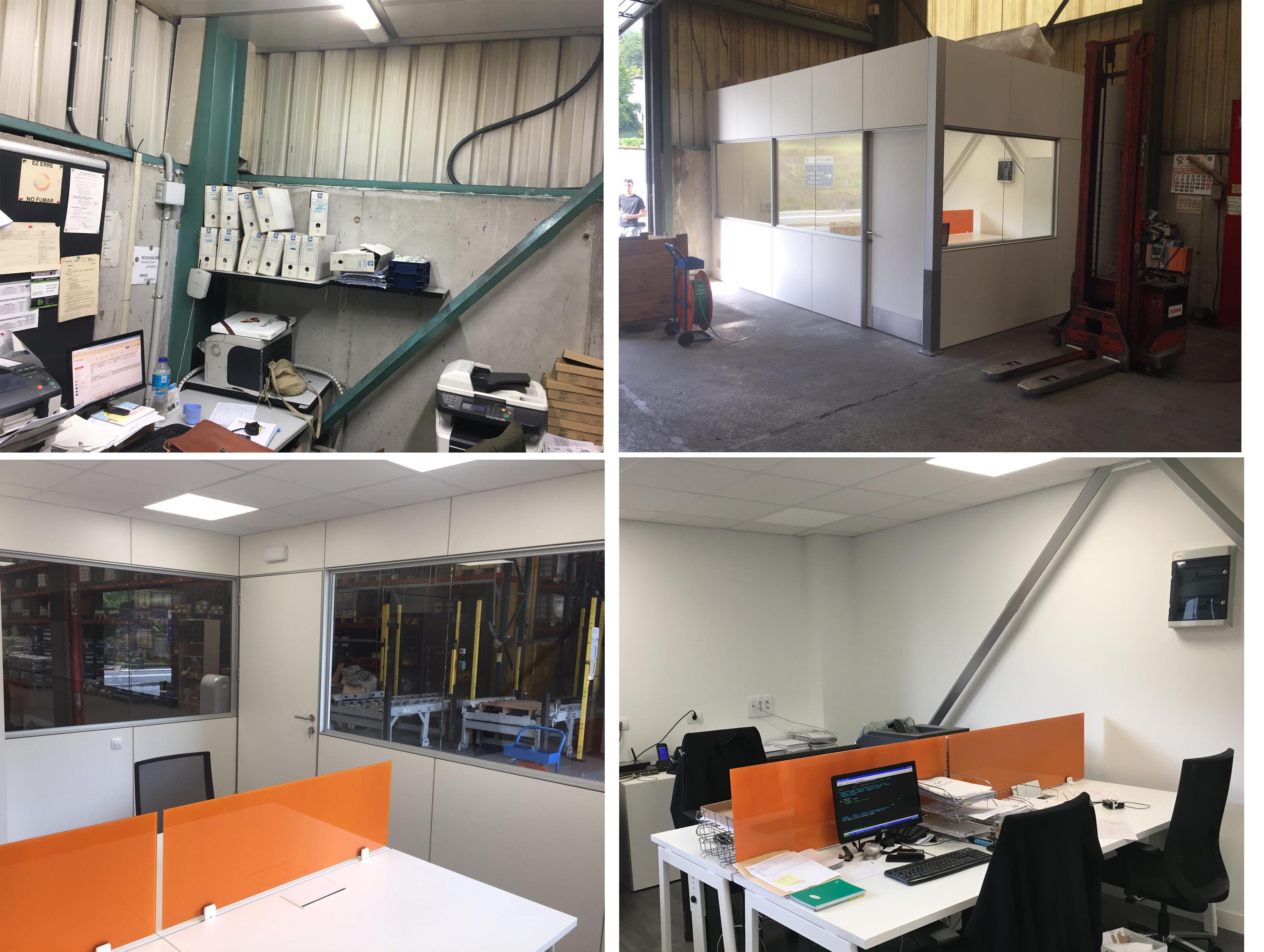 sillería oficina, mesa bench m10, forma 5