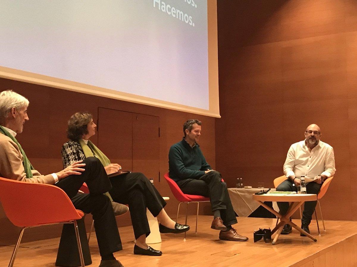 Coloquio Frederic Laloux, Ana Moreno, Koldo Saratxaga
